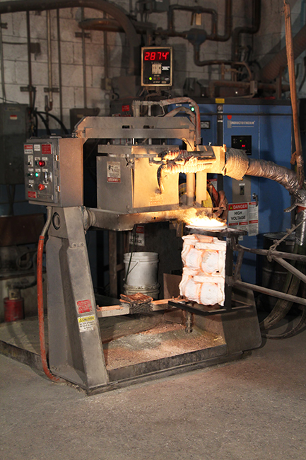 Inductotherm Rollover Furnace